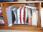 office shelf clutter